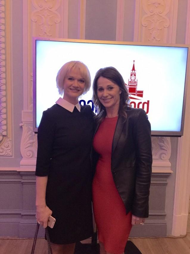 Nadia Comaneci si Svetlana Khorkina la SportAccord, Moscova