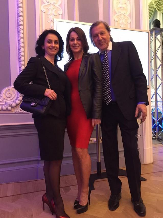 Nadia Comaneci si Ilie Nastase la deschiderea sediului SportAccord din Moscova