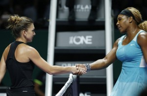 Simona Halep si Serena Williams