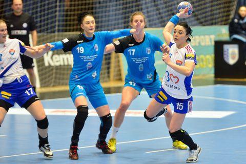 Handbal feminin: CSM Bucuresti, victorie in 7 metri in primul meci din semifinala Ligii Nationale