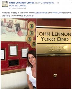 Nadia Comaneci John Lennon room