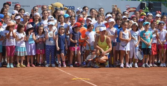 Simona Halep la Kids Day - BRD Bucharest Open