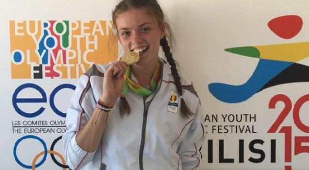 Georgiana Anitei, medaliata cu aur la triplusalt
