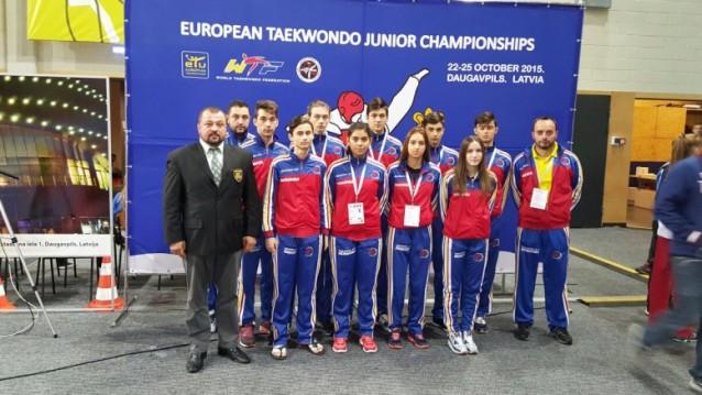 Romania, campioana europeana la taekwondo. Sursa foto: taekwondowtf.ro