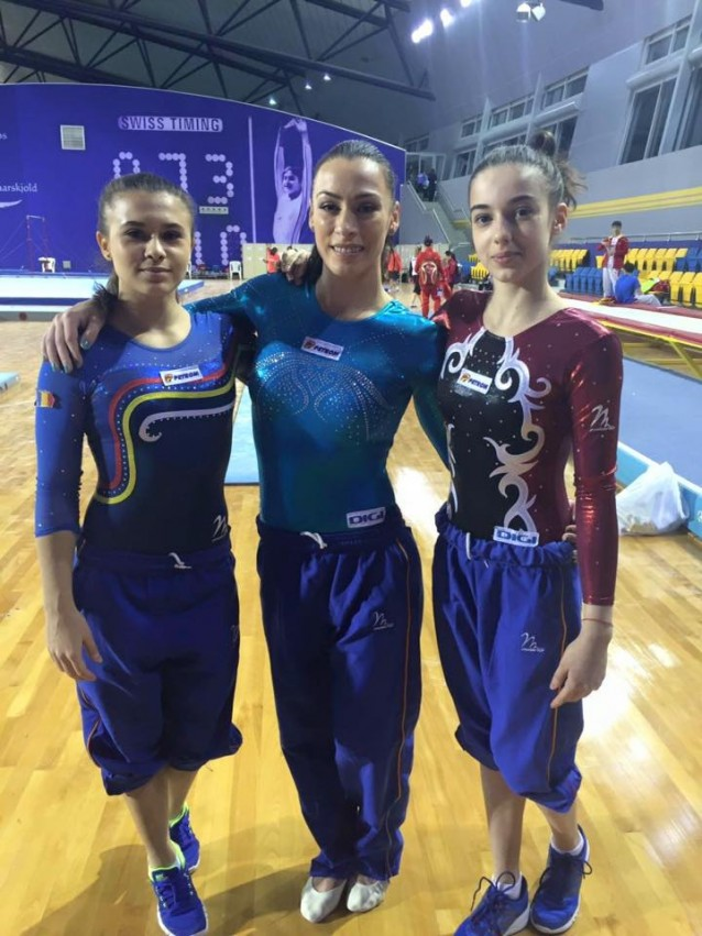 Catalina Ponor, Diana Bulimar si Dora Vulcan, in trei finale la Cupa Mondiala de gimnastica artistica de la Doha. Sursa foto: Facebook Lotul Feminin de Gimnastica al Romaniei