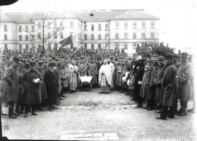 Viena, 14 noiembrie 1918. Sfințirea primului steag tricolor și depunerea jurământului
